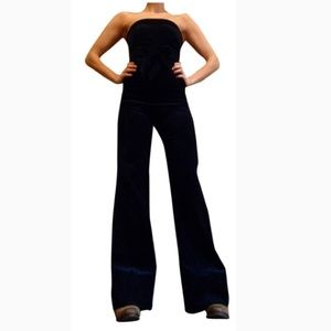 Jumpsuit strapless Jean by Alvin valley worn once!